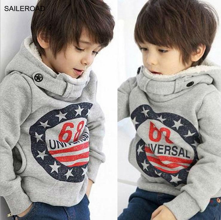 AliExpress - Children Winter Thicker Boys Sweatshirts Coat Long Sleeve Kids Coat Fit 2-7ages for Winter Autumn Kids Sweater Hoodies SAILEROAD