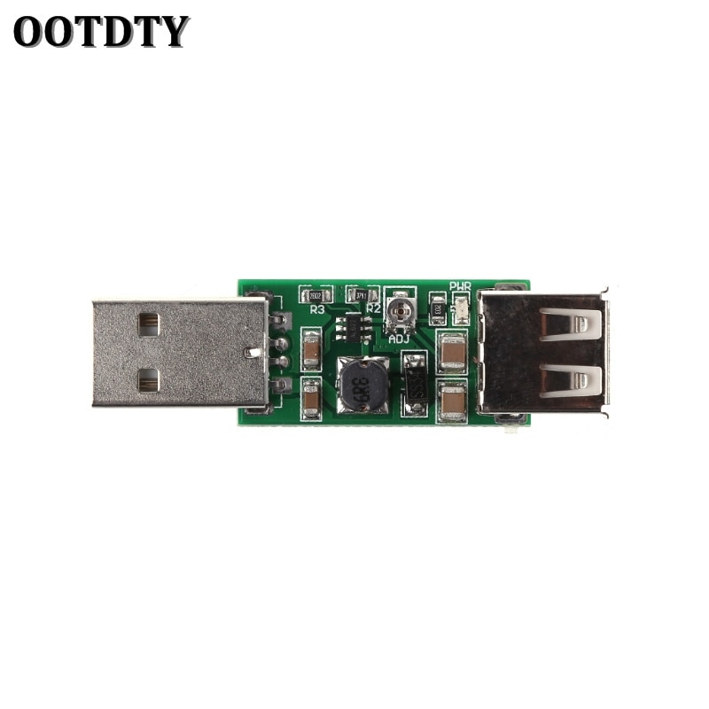 OOTDTY-Convertidor de DC-DC USB de 5V a 6-15V, módulo de inversores de aumento de voltaje, Salida DC ajustable de 6V, 7V, 8V, 9V y 12V