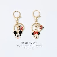 disney mickey minnie creative cute cartoon key chain pendant hangs car keychain pack decoration keyring
