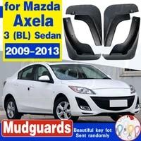 4pcs molded car mud flaps for mazda 3 bl axela sedan 2009 2013 mudflaps splash guards mud flap mudguards fender 2010 2011 2012