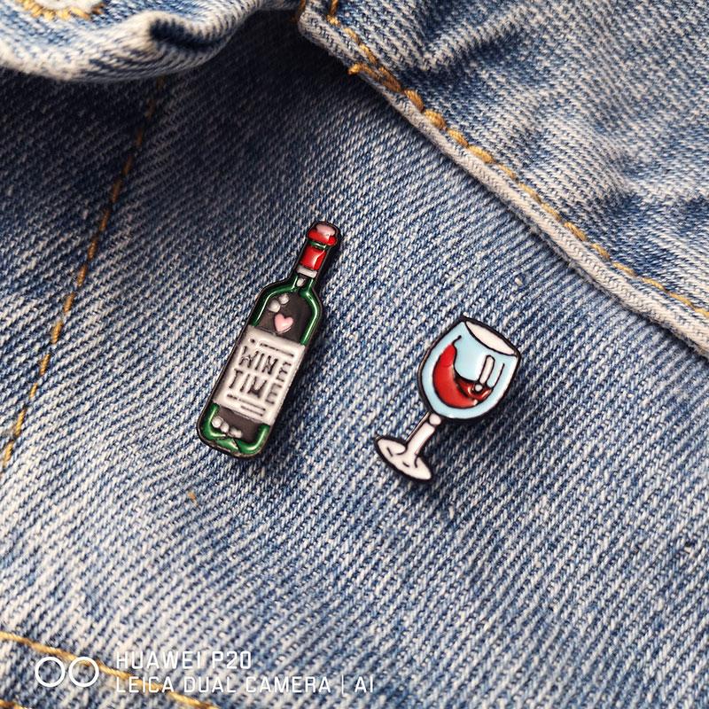 Винного-любовника-броши-в-виде-бутылки-вина-очки-эмаль-значок-пара-шпильки-Красное-Вино-Кубок-для-бутылок-броши-значок-для-влюбленных-лучш