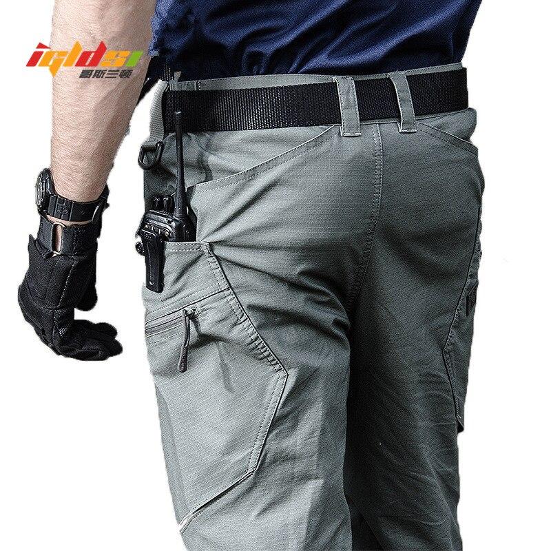 Pantalones militares de carga para hombres, pantalones largos de combate táctico urbano para hombre, pantalones casuales con múltiples bolsillos, pantalones S-2XL de tela Ripstop