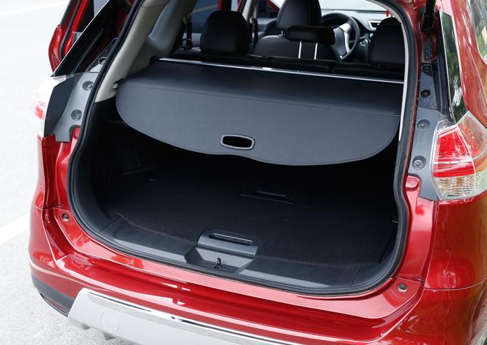 Para nissan x-trail t32 2014-2019 pacote traseiro prateleira estilo do carro tronco capa material cortina traseira retrátil spa