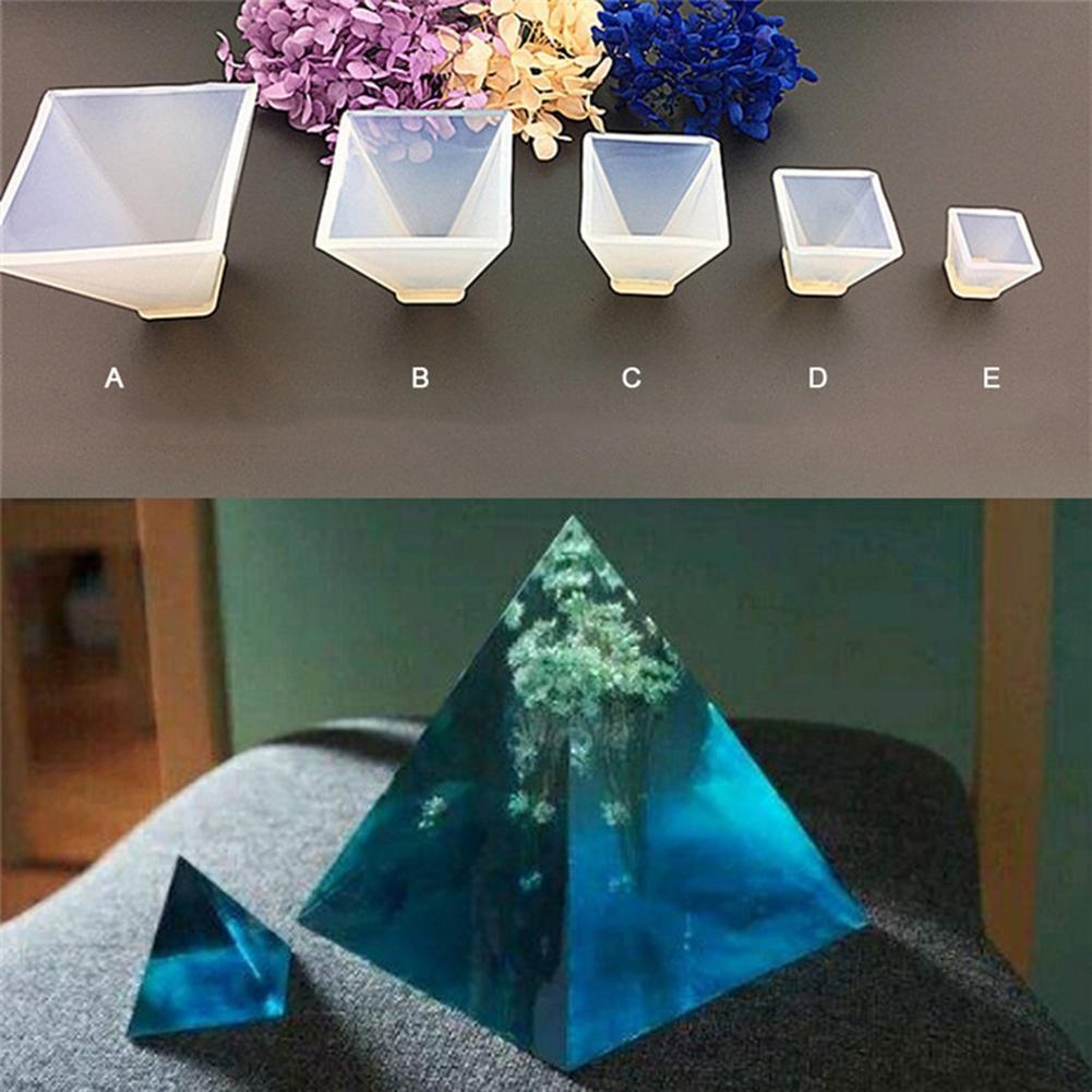 Molde de silicona en forma de pirámide para hacer joyería Molde de resina DIY molde de artesanías epoxi molde para joyería Molde de resina DIY molde de artesanías