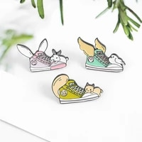 pins metal creative shoes bird brooch for coat rabbit cat enamel pin womens brooches badges on backpack gifts for the new year
