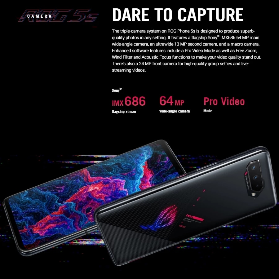 Asus ROG 5S 5G Gaming Phone 6.78