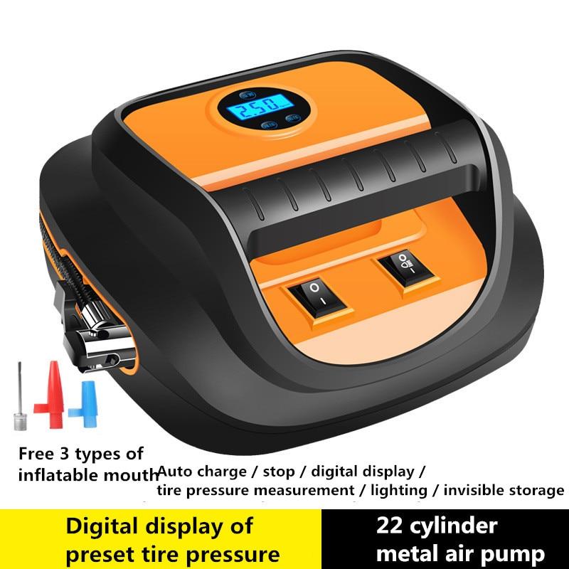 Luftpumpe Inflador de neumáticos digital, a 12V con LED