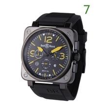 AAA BELL&ROSS Luxury brand mens watch fashiong deasigner chronograph Quartz clock Rubber strap Rel
