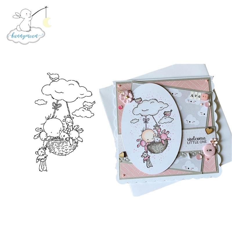 CH Flying Baby transparente claro sello de silicona/sello para DIY scrapbooking/álbum de fotos decorativo claro sello hojas
