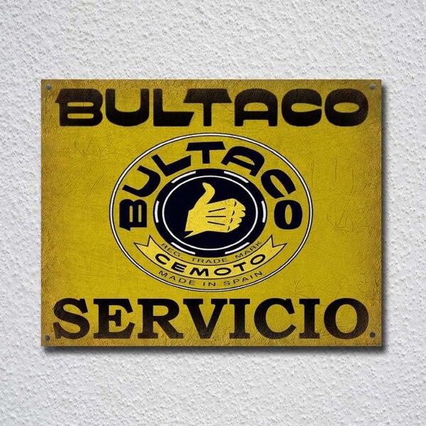Bultaco-señal de Metal para decoración de pared, cartel metálico, pintura metálica de decoración