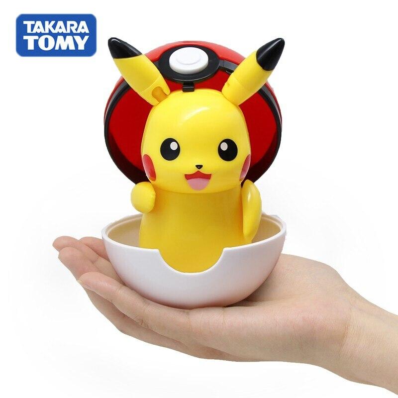 100% figuras de Pokemon de TAKARA TOMY originales juguetes figura de Anime Pikachu charizard Mewtwo twistle figura de acción para niños muñecas modelo