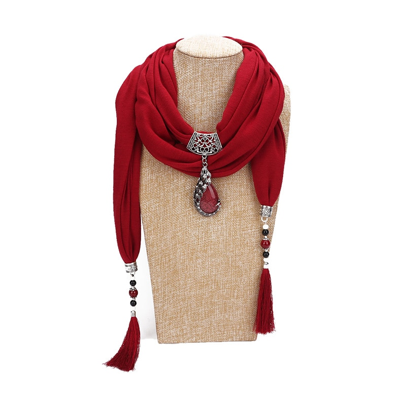 Joyería colgante bufanda hiyab liso bufanda poliéster chal mujer hijab lujo Pavo Real colgante chales jersey tela suave musulmana