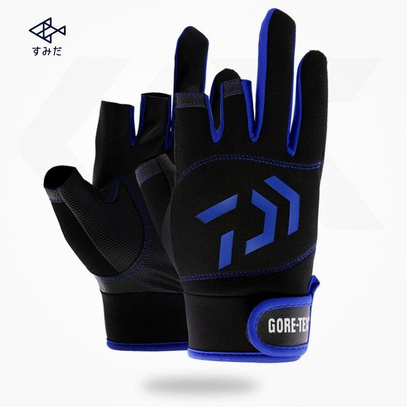 2020 new High Quality Fishing Gloves Half Finger Outdoor Sport DAIWA Fishing Waterproof DAWA Fishing Clothing