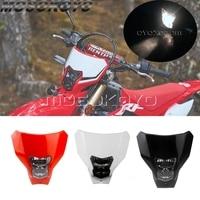 Передняя фара Supermoto для мотоцикла, 12 В, для Honda CRF450XR CRF450L CRF450 CRF250 R/L/X 2019-2020