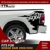 car sticker for dodge ram 25003500 crew cab 64 box car truck bed 4x4 mountain stripe graphic vinyl car decal auto accessories