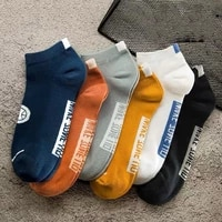 5 pairs mens socks summer thin breathable deodorant sport socks cotton comfortable sweat absorb short sox male casual boat sox