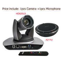 Всенаправленный usb микрофон Громкая связь USB3.0 DVI 20X зум PTZ камера H.264 H.265 IP прямая трансляция PTZ Cam