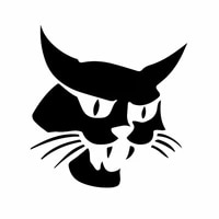 lly 0471 fashion car sticker accessories funny bobcat modeling decal pvc mascot pattern waterproof cars stickers decoration