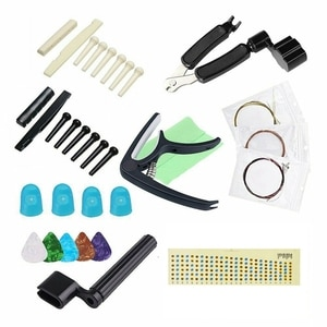 Guitar Accessories Include String Nails Guitar Pick Finger Sets String Pillows String Changer Capo Stickers Piano Cloth