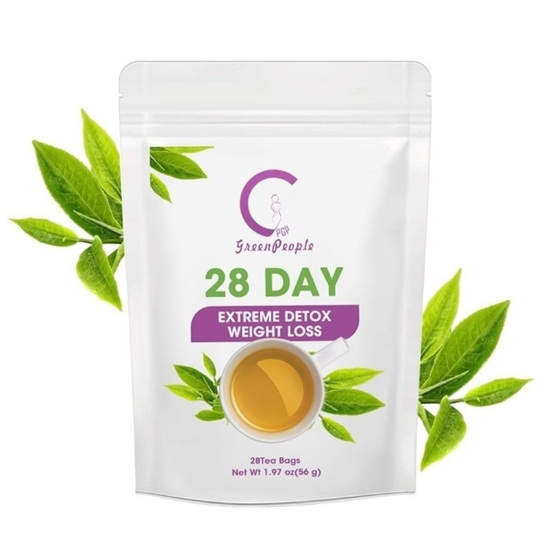 Greenprople Detox Natural Slimming Tea Fat Burn Reduce Bloating and Constipation Lose Weight Body Cleanse