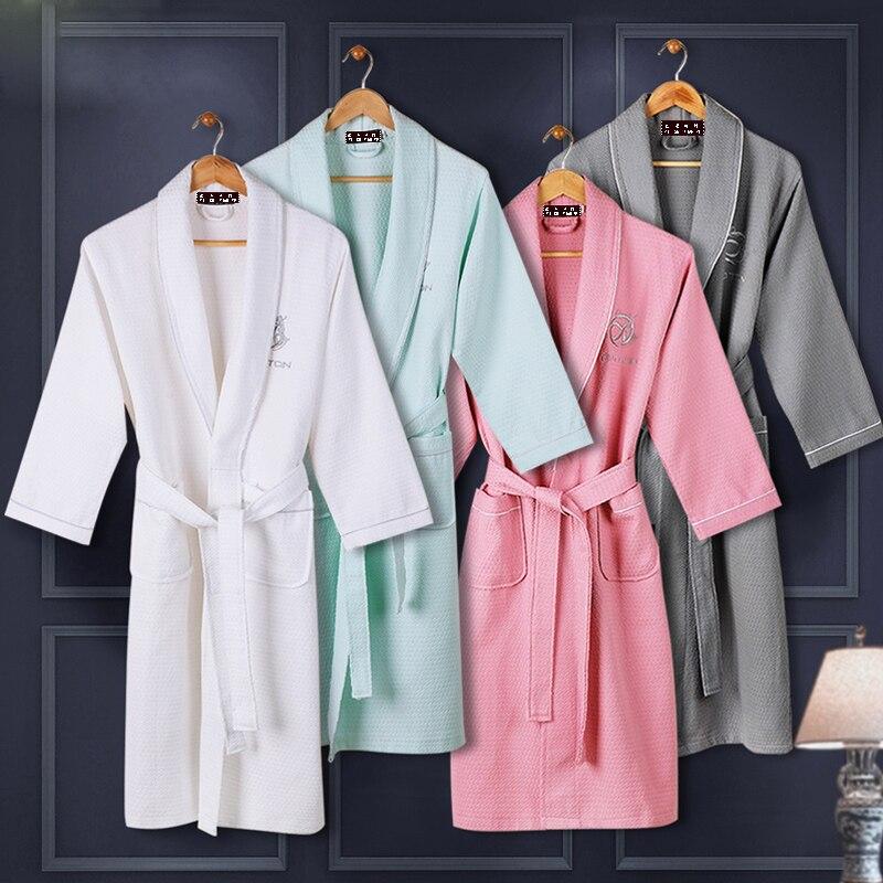 Men's Robe 100% Cotton Summer Waffle Bath Robe Japanese Kimono Robes Men Dressing Gown Bathrobe Bridesmaid Men Sleeping Robes недорого