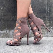 2021 new fashion high heel sandals women summer stiletto high tube fashionable fish mouth Roman ladi