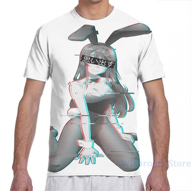 Sakurajima mai (bunny girl) camiseta masculina mulheres por todo o lado impressão moda menina t camisa menino topos t camisas de manga curta