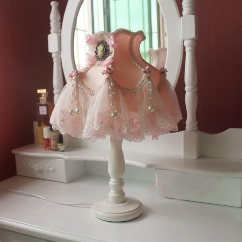 Lampes de Table moderne Led tissu abat-jour pour salon chambre bureau luminaires lumière de mariage décor à la maison WJ122113