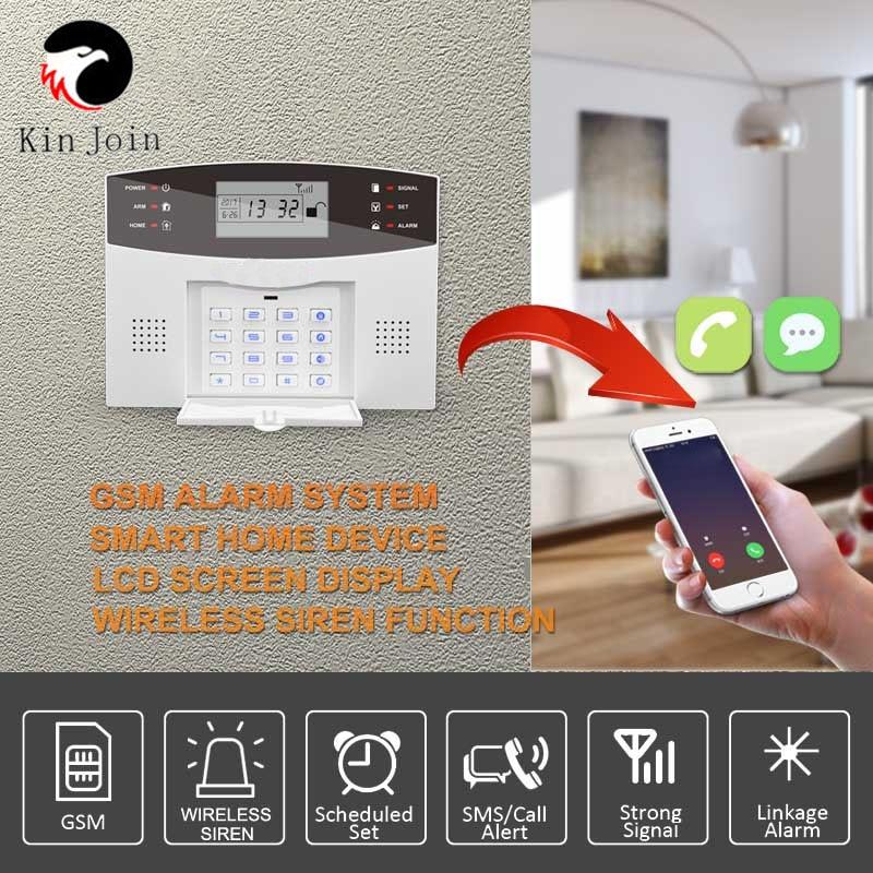 Wifi GSM Home Burglar System 433MHz Detector Alarm Support Telephone Line PSTN & SIM Card Voice Intercom Wifi APP Relay enlarge