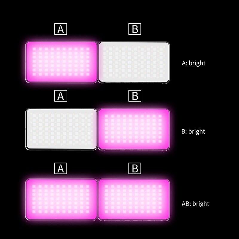 VIJIM R316 Foldable RGB Video Light Lighting for Photography 2600K-12000K 3200mAh RGB LED Video Camera Light Vlog Fill Light