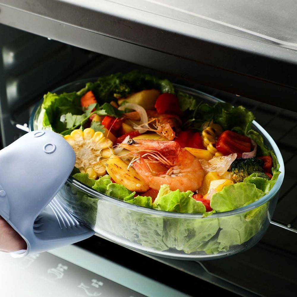 1.5/2/3l alta placa de prato de peixe de vidro borosilicato cozinha forno microondas tigela aquecimento seguro salada do agregado familiar comida placa utensílios de mesa