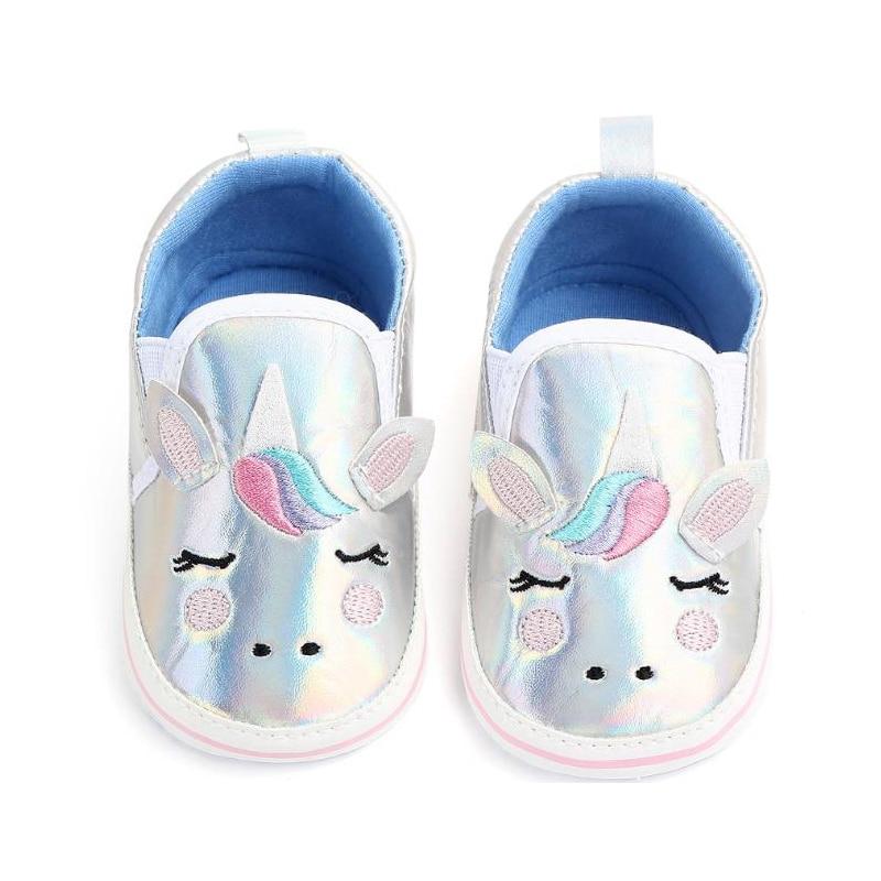 Кеды детские зимние, мягкая обувь для новорожденных, мультяшный рисунок, для мальчиков и девочек, кроссовки для прогулок, в виде единорога