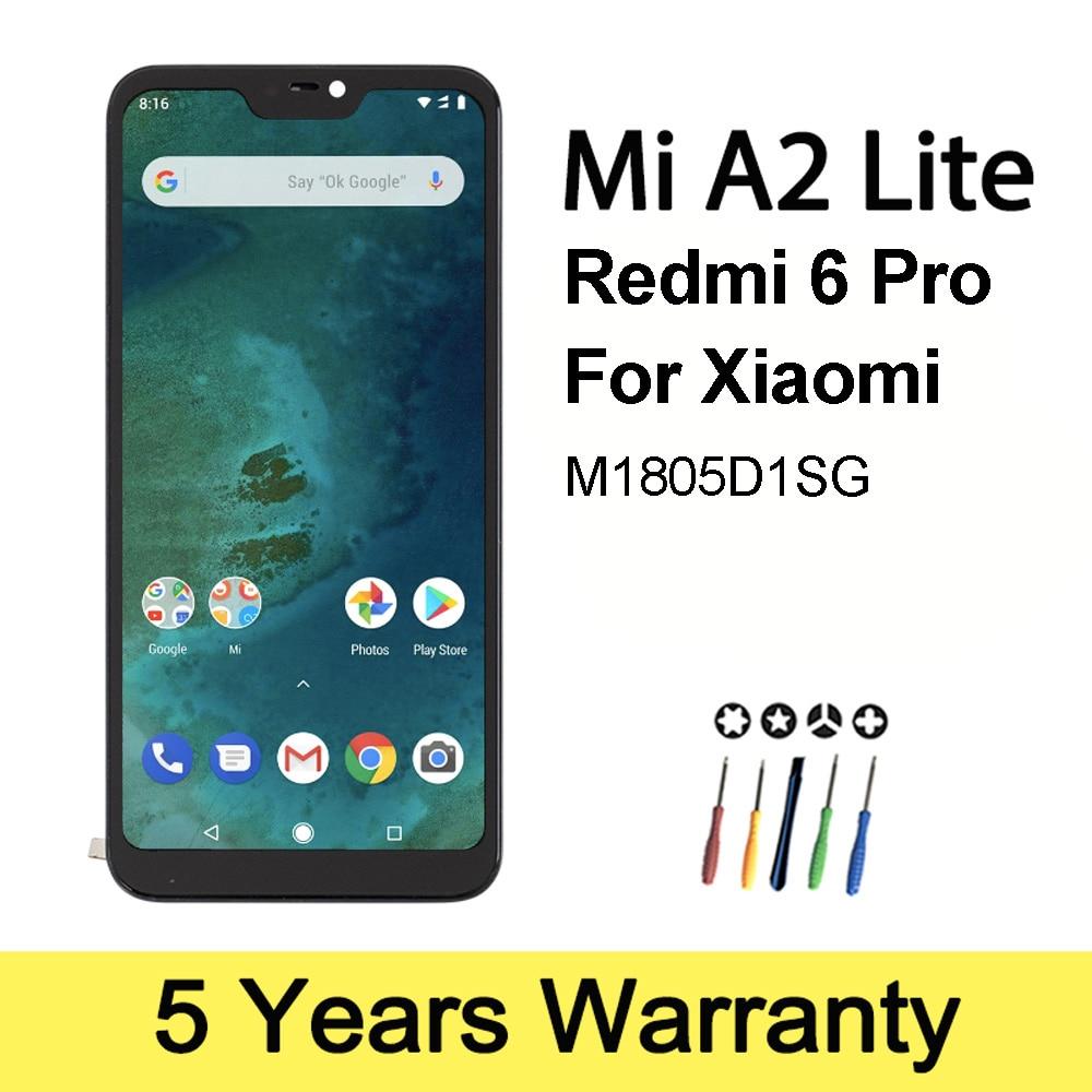 شاشة Lcd فائقة الجودة لهاتف شاومي Mi A2 Lite بشاشة LCD بإطار M1805D1SG شاشة تعمل باللمس لاستبدال شاومي ريدمي 6 برو