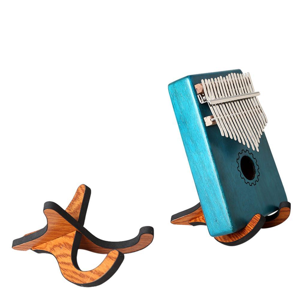 GECKO Portable plegable Kalimba soporte pulgar Piano Vertical soporte de madera accesorios de instrumentos musicales