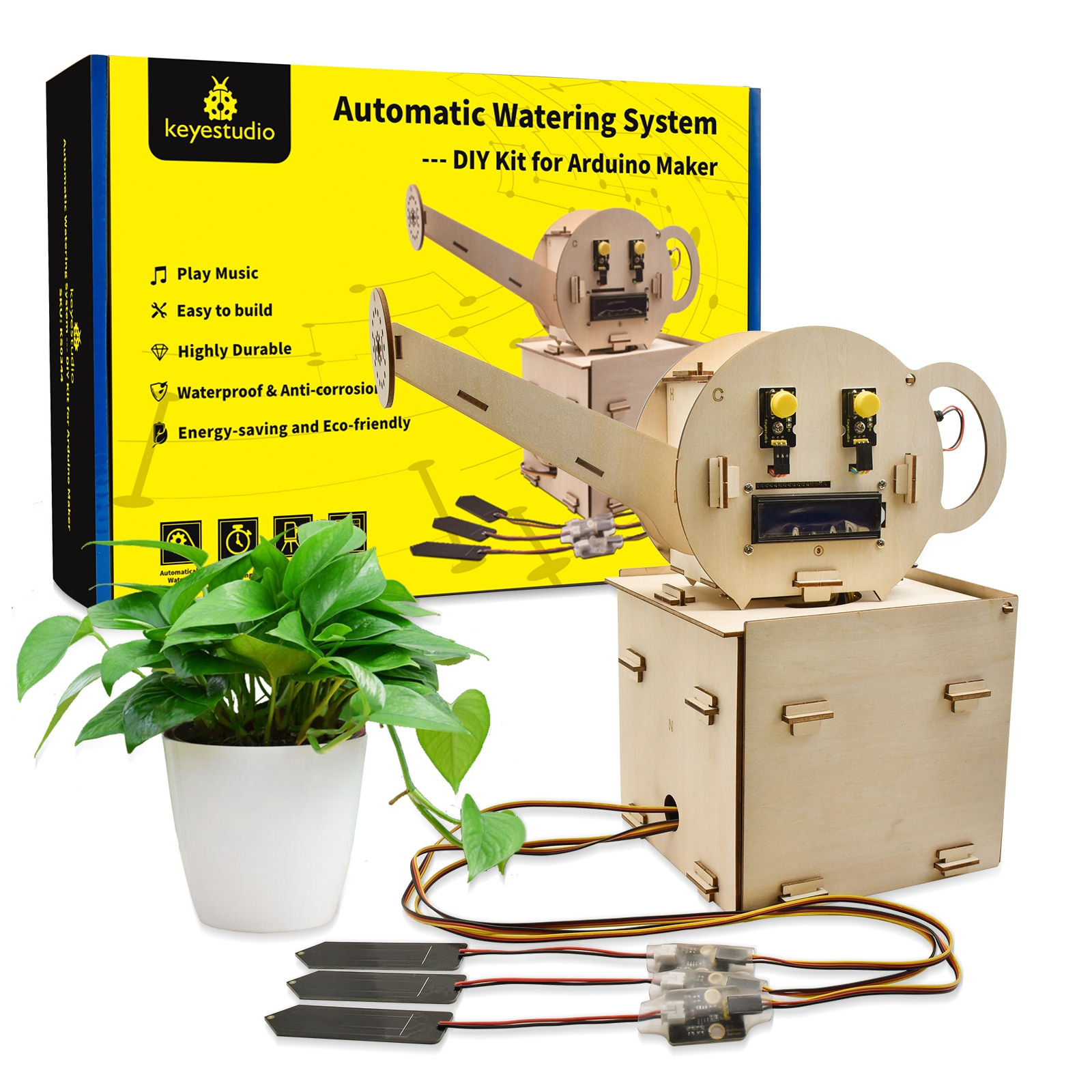 Keyestudio Automatic Watering Flower System Suit Programming Kit for Arduino Starter Kit DIY Projects