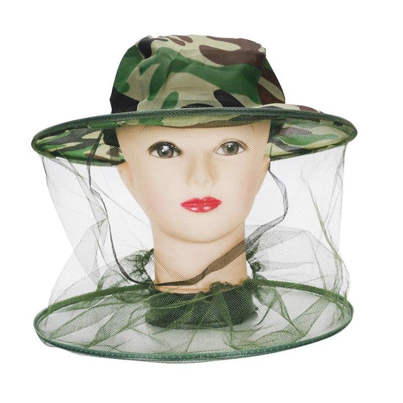 Mais novo apicultor anti mosquito abelha inseto voar máscara chapéu com rede de malha proteção facial