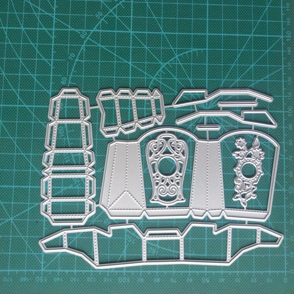 Troqueles de corte de Metal autobús escolar caja de regalo para papel para álbum de recortes DIY artesanía Stitch sellos creativos y troqueles Plantilla de corte nuevo 2020