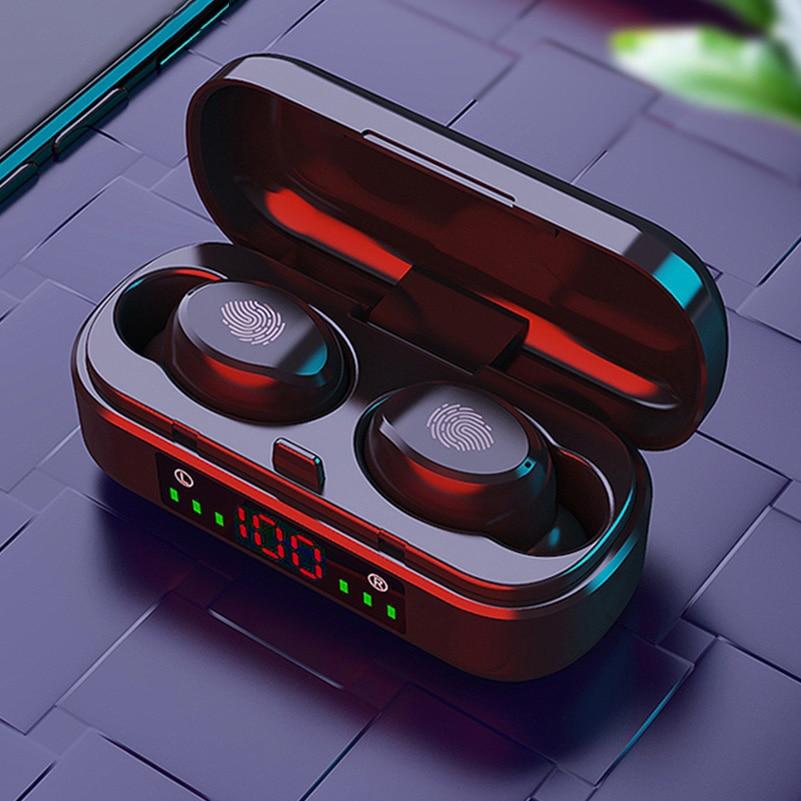 TWS Wireless Bluetooth 5.0 Earphones 9D Bass Stereo Headphones Touch Control Sports Waterproof Earbu