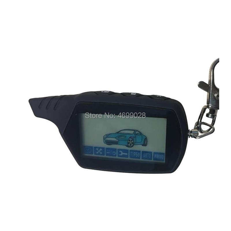 Cheap 10 PCS/Lot A91 keychain 2-way LCD Remote Control Key For 10PCS Russian Vehicle Security Two Wa