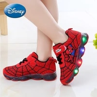 marvels spider man boys trendy led lights kids fashion sports running shoes new kids shoes