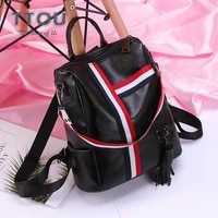 retro high capacity zipper women backpack for youth book hold bags leather laptop ladies office travel female shoulder bags