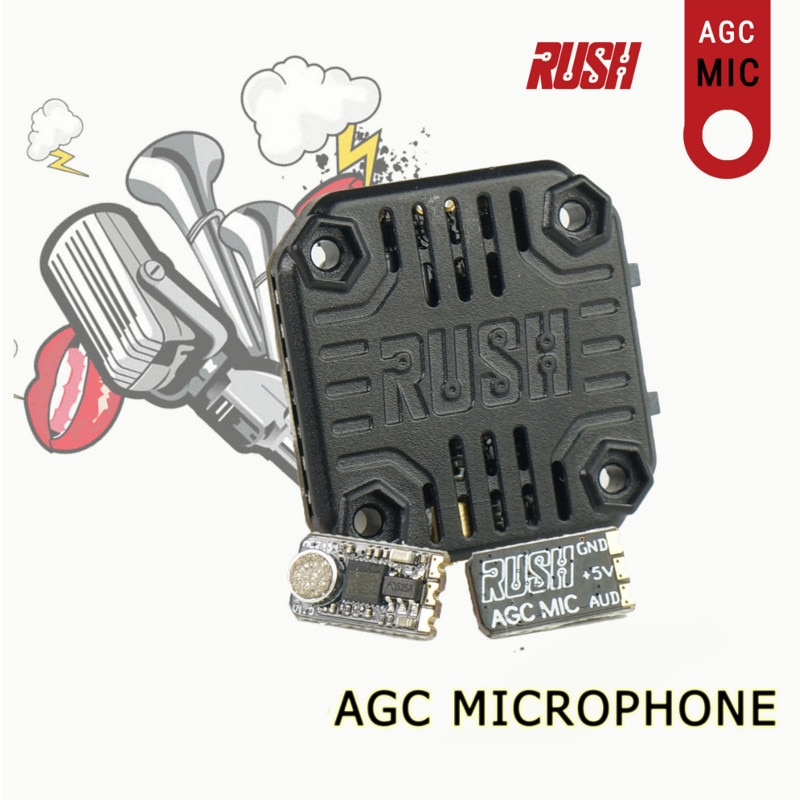 0,3g RUSH AGC микрофон для танка Раш мини VTX видео передатчик RC Дрон MultiRotor FPV гоночный