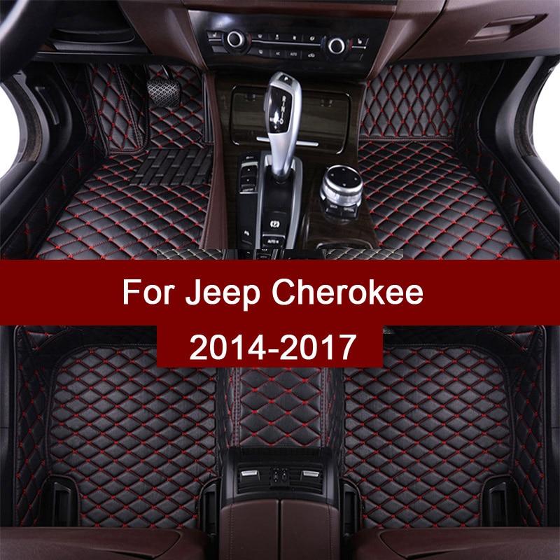 APPDEE cuir tapis De sol de Voiture pour Jeep Cherokee 2014 2015 2016 2017 Personnalisé auto patins automobile tapis couverture