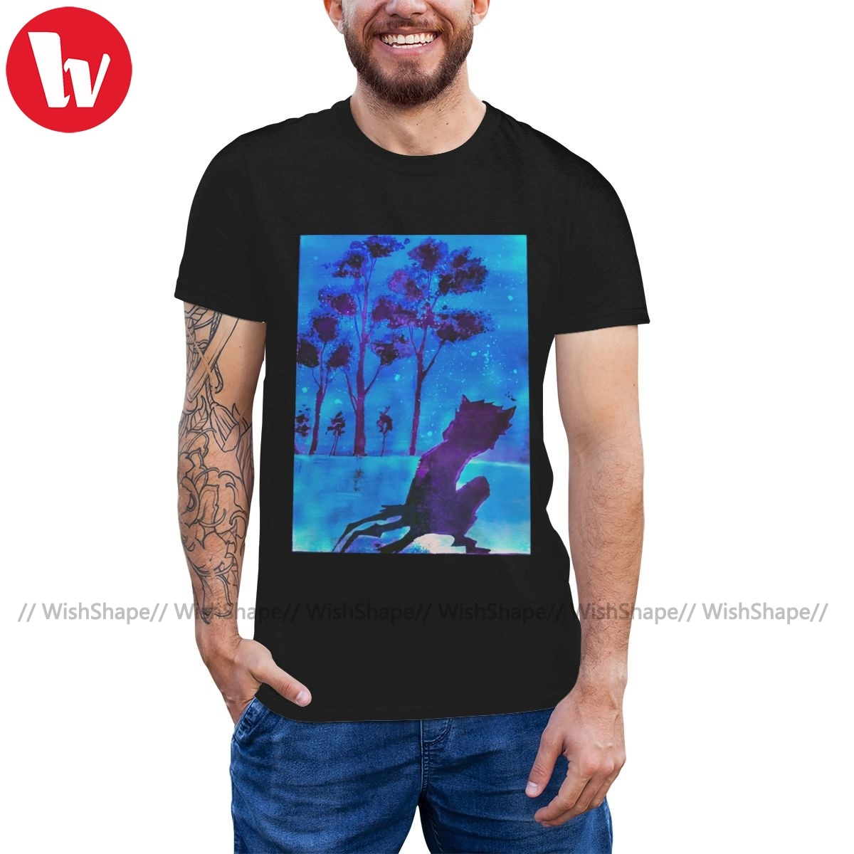 100 algodão streetwear camiseta masculina impressão bonito mais tamanho tshirt servoamp t camisa sakuya v lesu