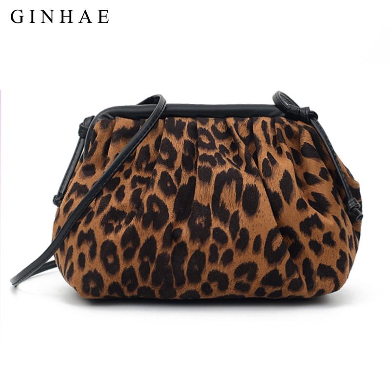 2019 bolso de bola de masa de moda de mujer leopardo monedero cartera bolsos bandolera pequeños para mujeres famoso bolso de diseñador de marca