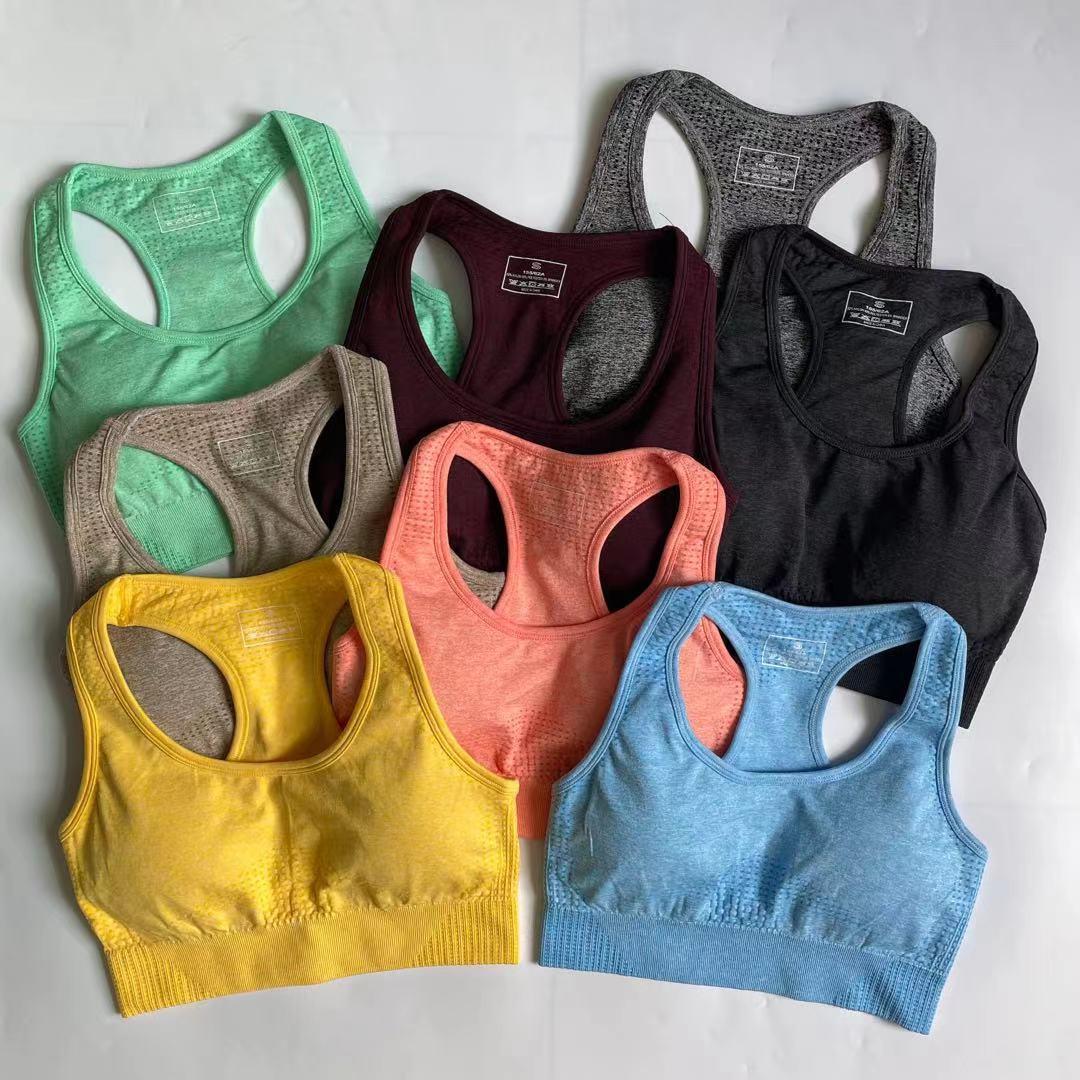 2 Pieces Seamless Yoga Set Women Workout Sportwear Gym Clothing Outfit Padded Sports Bra Fitness High Waist Shorts Biker Running