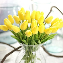 1Pcs Tulip Artificial Flowers Real Touch Artificial Para Decor Bouquet Flowers For Home Gift Wedding Decorative Flowers