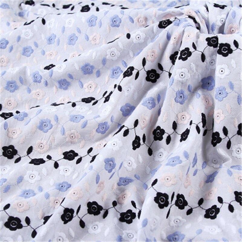 100*132 cm algodón bordado tela color hilo bordado tela encaje ropa funda de almohada accesorios mantel
