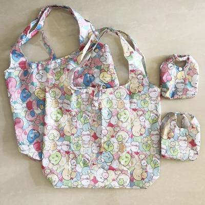 IVYYE 1PCS Sumikko Gurashi Fashion Anime Portable Shopping Bag Reusable Tote Foldable Handbags Pouch Storage Bags NEW