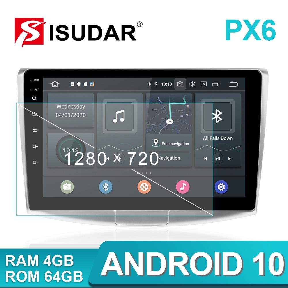 ISUDAR PX6 1 Din Android 10,0 Auto Radio Für VW/Volkswagen/Passat B7 B6 CC DVD player Multimedia audio RAM 4GB ROM 64G DVR DSP